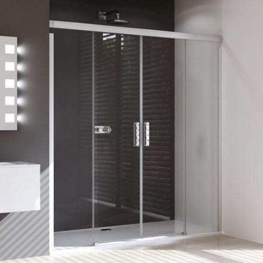 Huppe Design pure Двухсекционная раздвижная дверь с неподвижными сегментами 8P05
