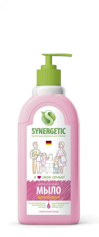 Synergetic Мыло жидкое, АРОМАГИЯ , дозатор, 500 мл