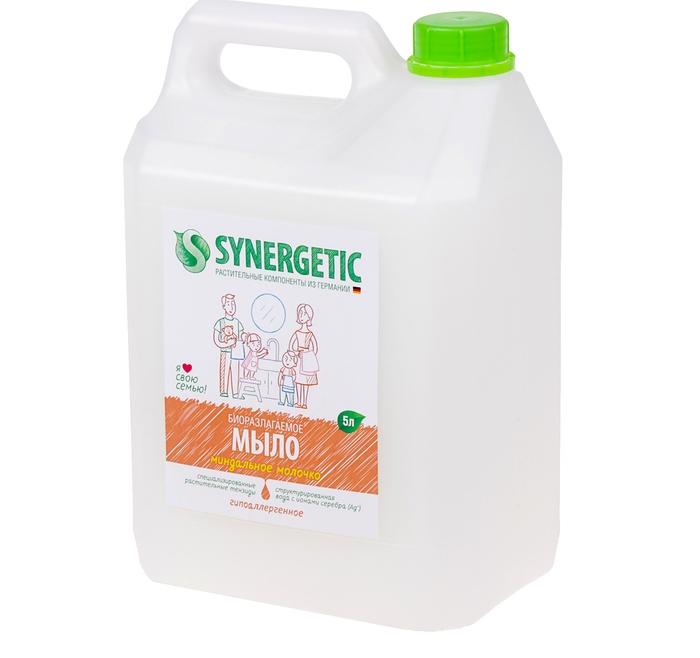 Synergetic Мыло жидкое, МИНДАЛЬНОЕ МОЛОЧКО ,5л.
