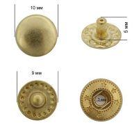 Кнопка VT-2 цвет.золото 10мм сталь NewStar