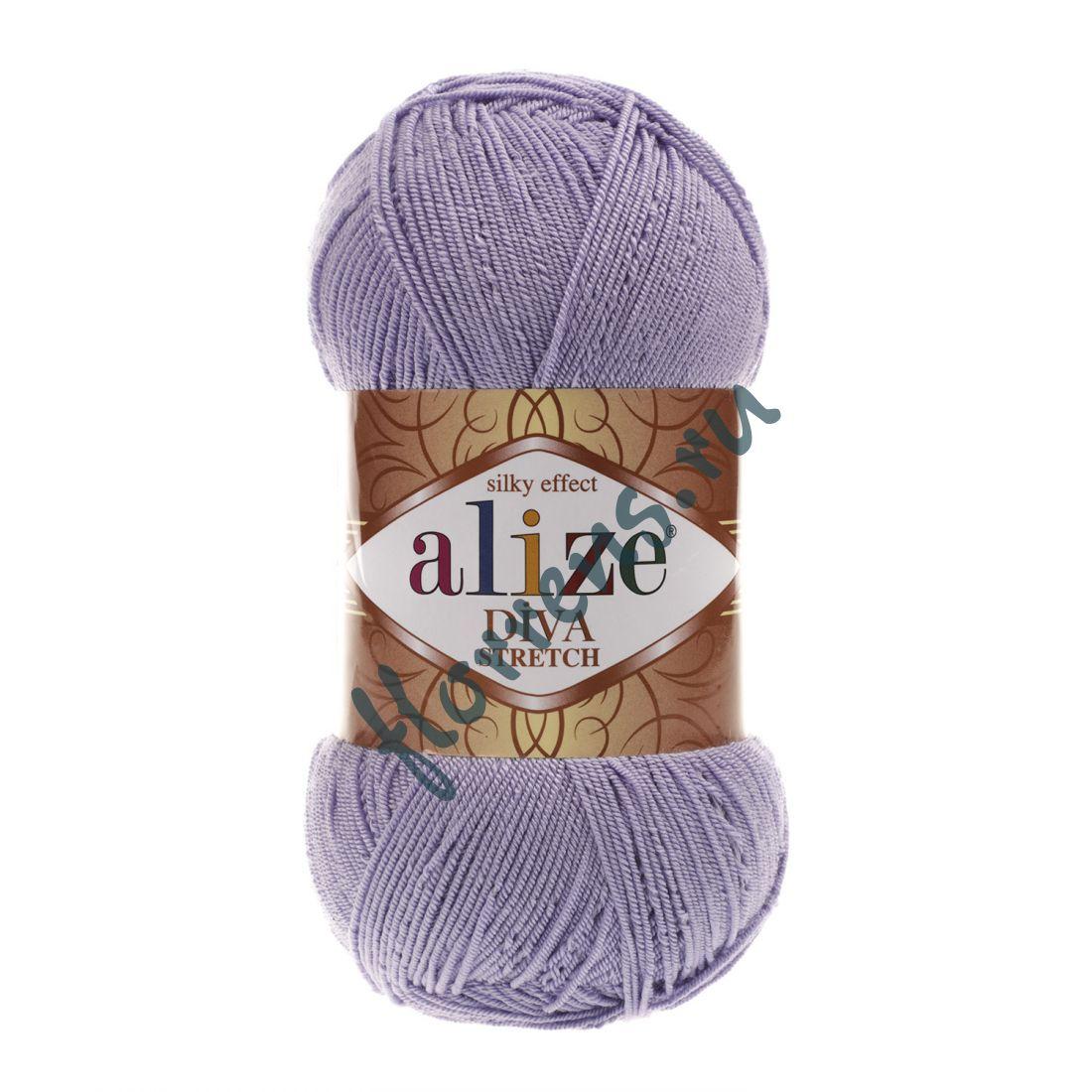 Пряжа Alize Diva Stretch / 158 лиловый