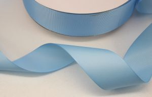 `Лента репсовая однотонная 15 мм, цвет: светло-голубой