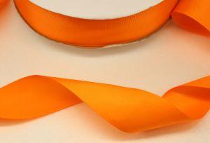`Лента репсовая однотонная 15 мм, цвет: оранжевый