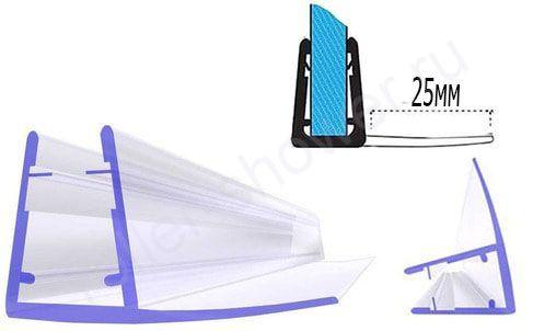 Серия-F-25 Уплотнители для душевых кабин, толщина стекла (4,5,6мм) Длина 2 метра