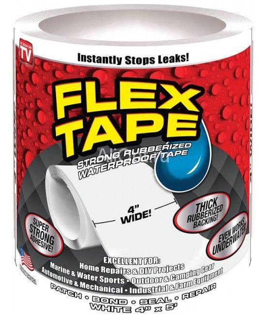 Сверхсильная клейкая лента Flex Tape (10*152 см), цвет белый