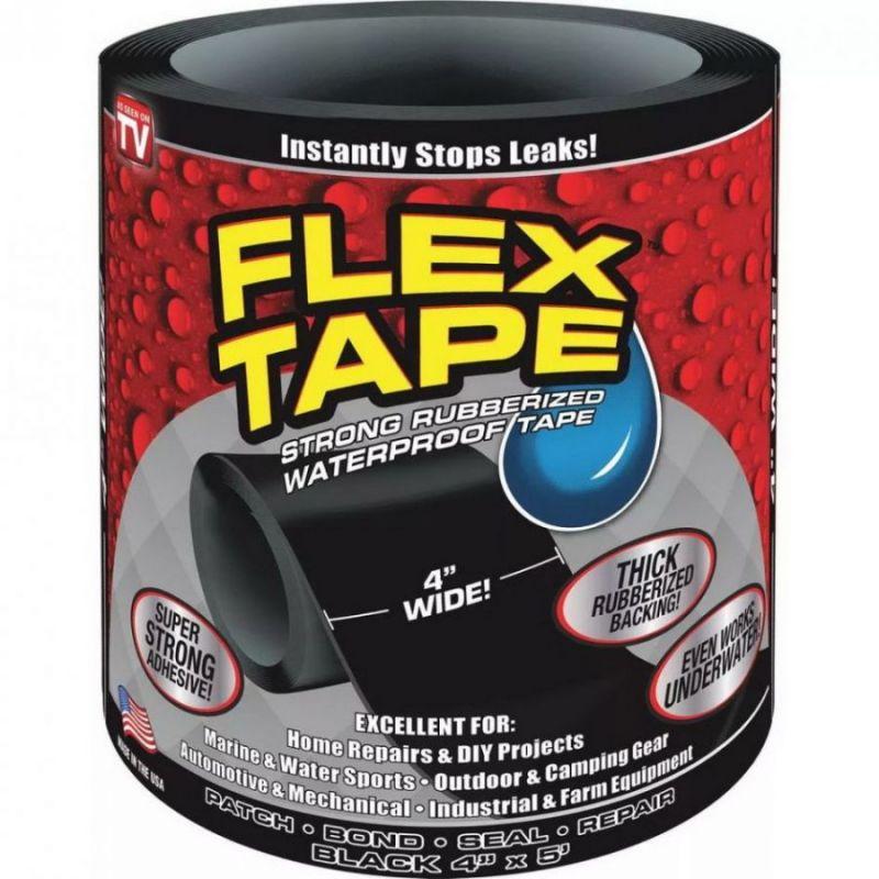 Сверхсильная клейкая лента Flex Tape (10*152 см), цвет черный