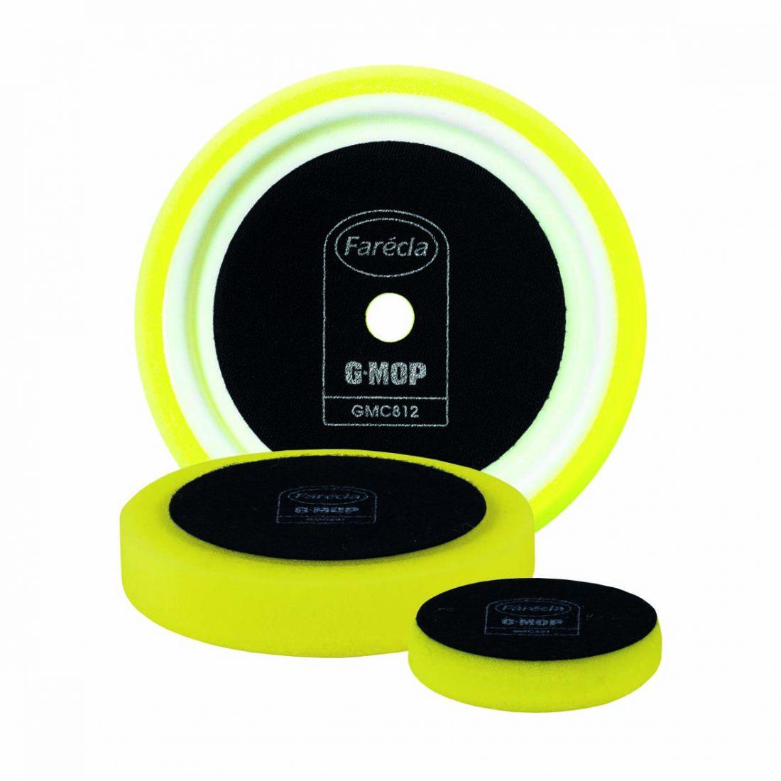 """FARECLA G Mop 8"""" Yellow Compounding Foam Жёлтый полировальник, средний, 200мм."""