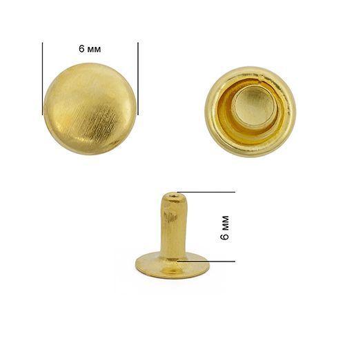 Хольнитены №0 6*6 мм, цвет: золото NewStar
