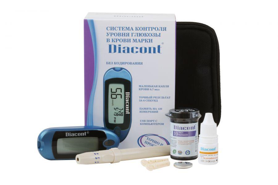 Глюкометр Диаконт Компакт (Diacont Compact), новинка 2018 года