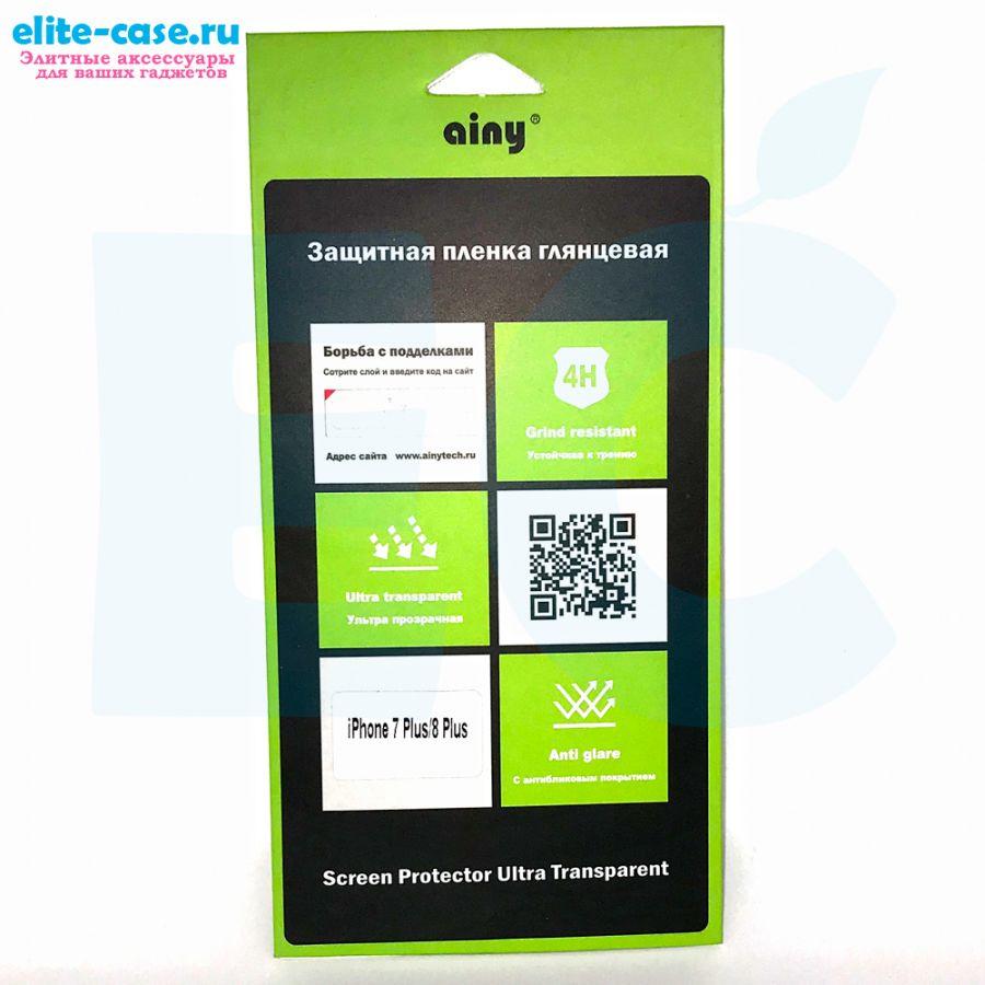 Защитная пленка Ainy для Apple iPhone 7 Plus глянцевая