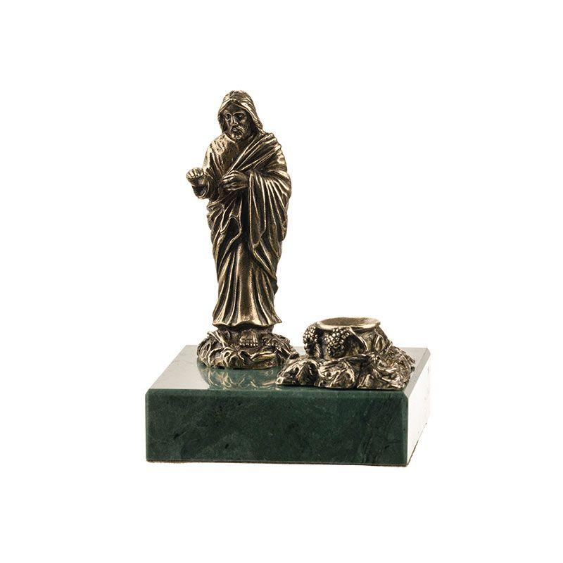 """Статуэтка """"Иисус Христос"""" с подсвечником на камне"""