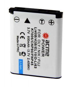 Аккумулятор Acme Power Casio NP-80/ FujiFilm NP-45/NP-45A/ Kodak KLIC-7006/ Nikon EN-EL10/ Olympus Li-40B/Li-42B/ Pentax D-Li63/ Rekam Li-40B (для фотоаппарата)