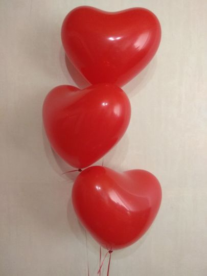 Шар-сердце красный латексные шары с гелием