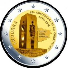 25 лет конституции 2 евро Андорра 2018