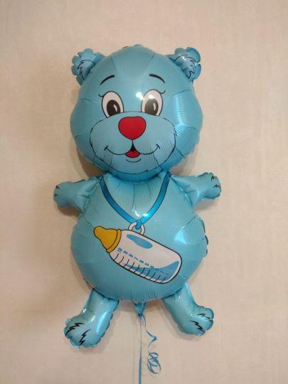 Мишка фольгированный шар с гелием
