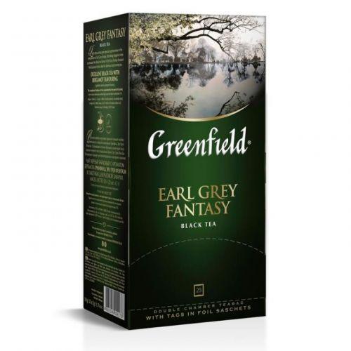 Чай Greenfield Earl Grey Fantasy черный с бергамотом 25 пак