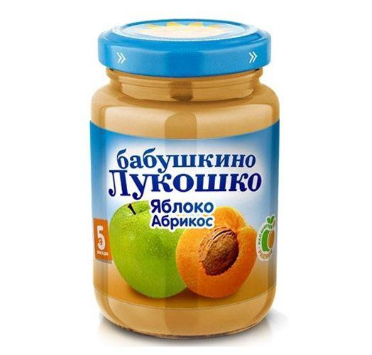 Бабушкино лукошко Пюре Яблоко, абрикос с 5 мес., 100 г