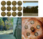 Армения. Набор 6 монет по 200 драм 2014 год - Дикие деревья Армении UNC