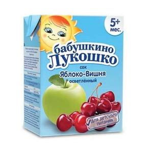 Бабушкино лукошко Сок Яблоко-вишня осветленный с 5 мес. 200 мл