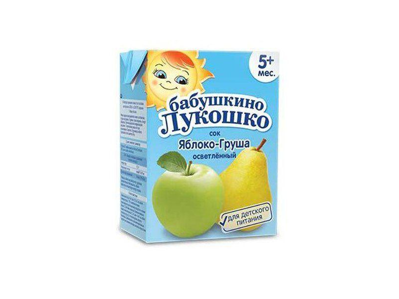 Бабушкино лукошко Сок Яблоко-груша осветленный с 5 мес. 200 мл
