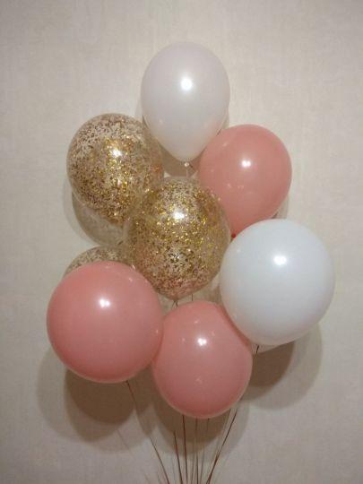 Набор Естесственный (9 шаров из них 3 с конфетти)