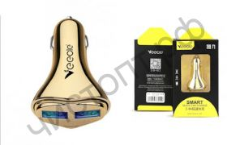 АЗУ VEECLE KY-C12 с 2 USB выходами (3400mA,5V) пласт., картон. упак.