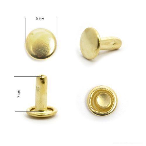 Хольнитены №0 6*6 мм, цвет: золото NewStar (ДВУСТОРОННИЕ)