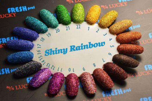 Зеркальный блеск Shiny rainbow color  1