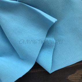 Трикотаж однотонный Голубой
