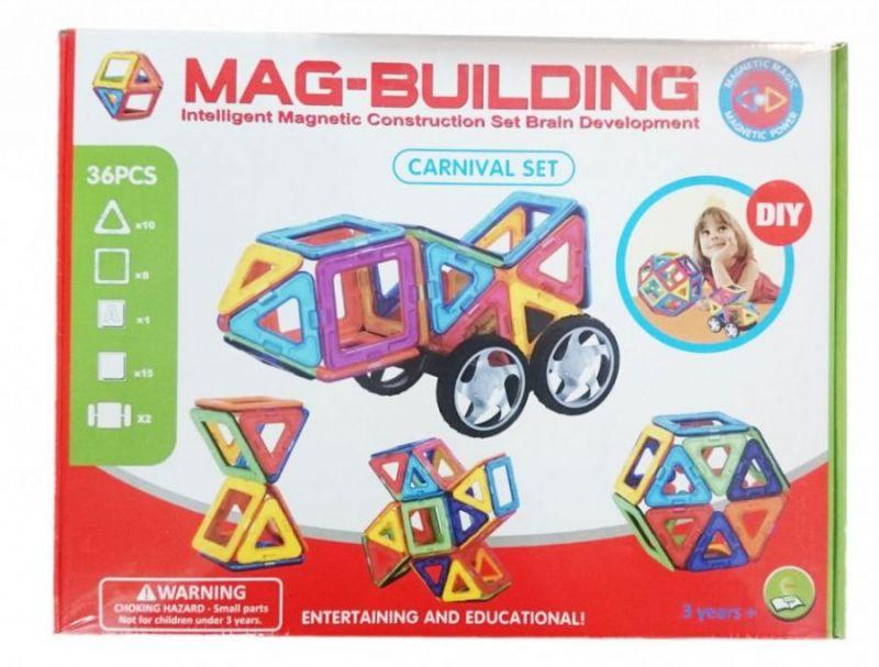 Магнитный Конструктор MAG BUILDING, 36 Деталей