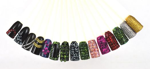 Клепки для ногтей FRESH в пакете ассорти