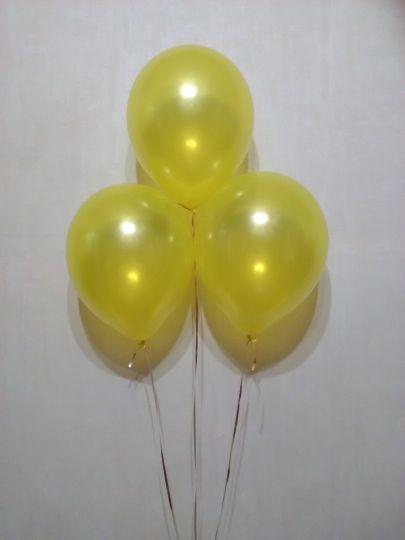 Желтый металлик шар с гелием