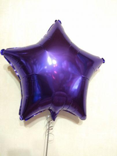 Звезда фиолетовая шар фольгированный с гелием