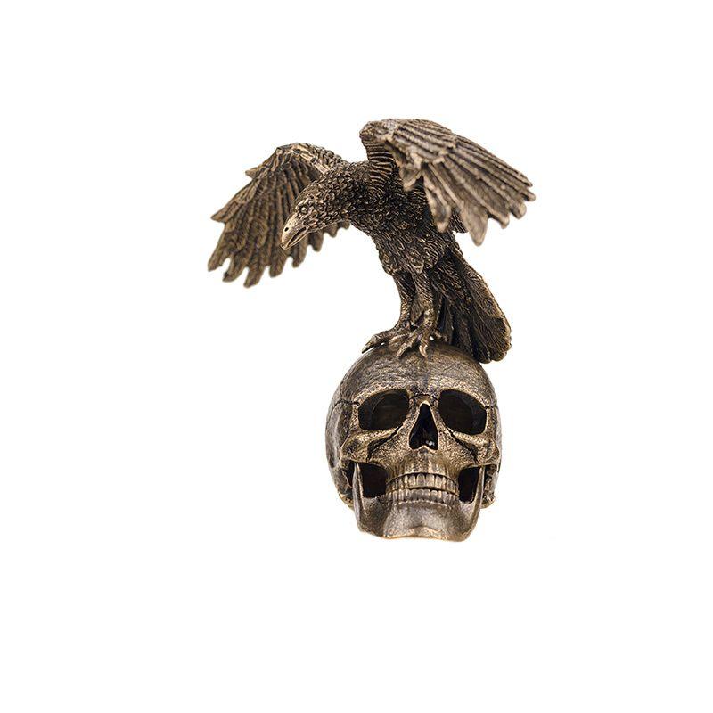 """Статуэтка """"Ворон на черепе"""""""