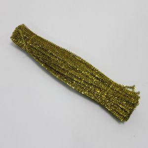 `Синельная проволока, блестящая, 5мм х 300мм, цвет желтый (1уп = 10шт)