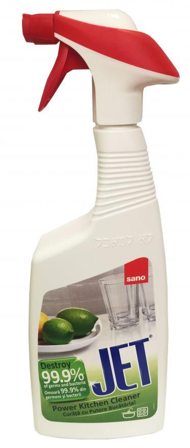 Чистящая пена для мытья кухни Sano JET Убиваетдо99,99%микробов 750 мл