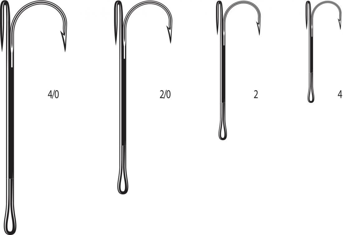 Двойники Cannelle 2020 К № 4 уп.10 шт. (черный никель, удлиненное цевье,спаянный)