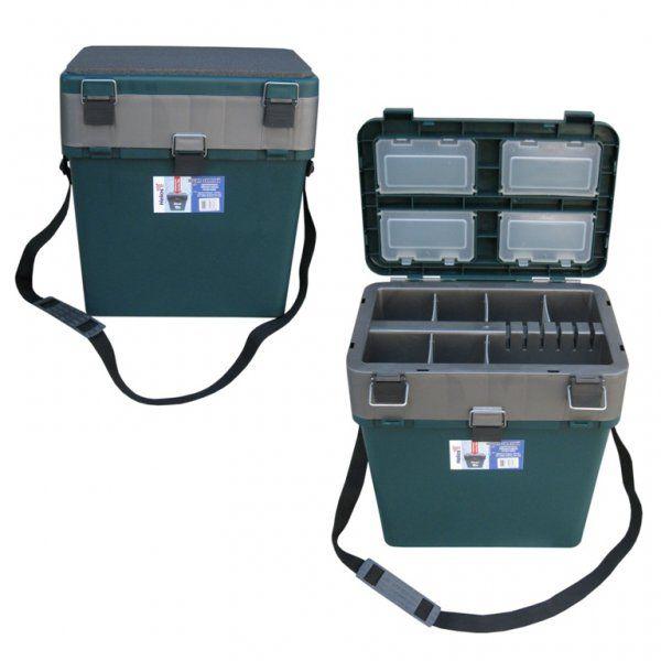 Ящик зимний, ТОНАР + пластиковый 360х390х180/260 см 19 л, синий