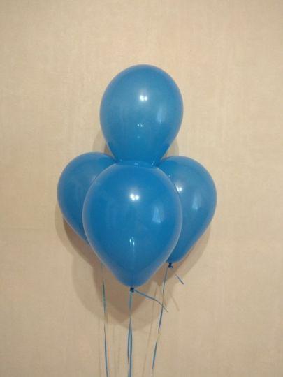МИНИ синий шар маленького размера с гелием
