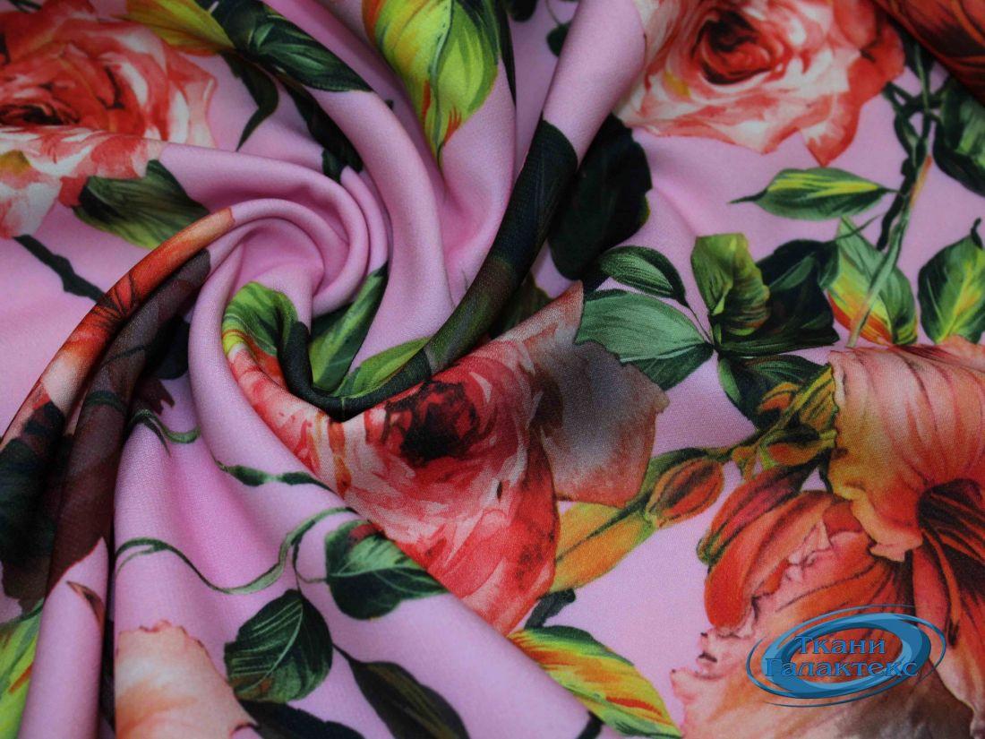 """Костюмная ткань принт """"Барби"""" VT-9743/D7/C#1"""