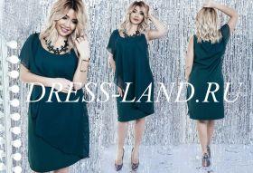 Шифоновое платье длины миди зеленого цвета