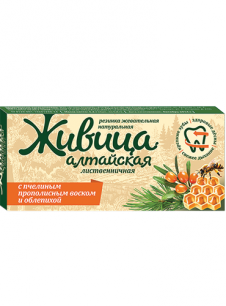 """""""АБ"""" Резинка жевательная """"Живица алтайская с облепихой"""", 0,8 гр."""