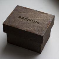 коробка из дерева с логотипом малая