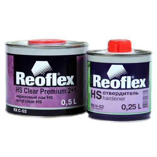Reoflex Лак Акриловый 2K НS 2+1 (комплект), 500мл. + 250мл.