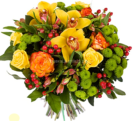 Букет Акварель с орхидеями