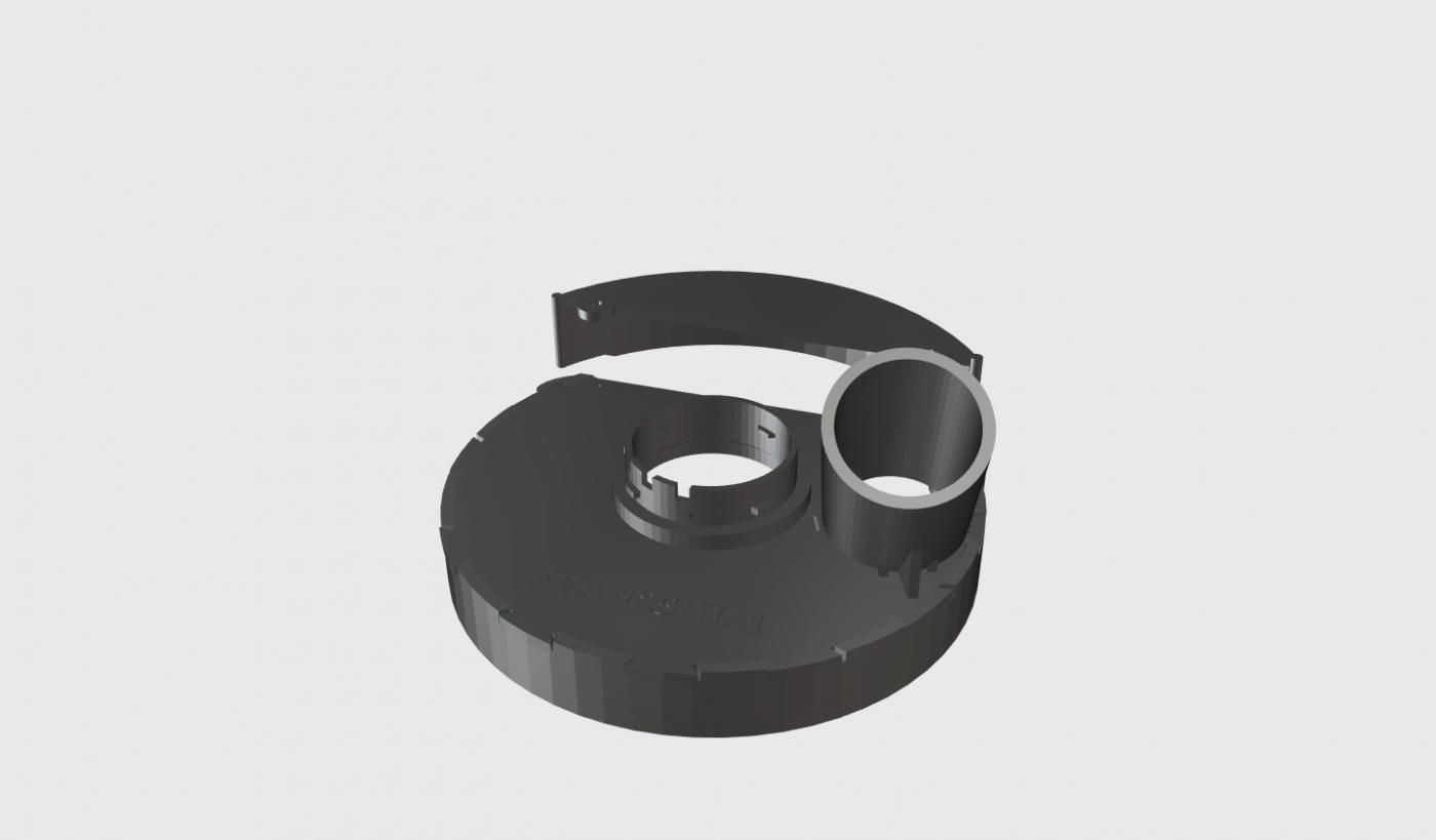 Пылеотводящий кожух для ушм hilti   ava 125hl-1pro