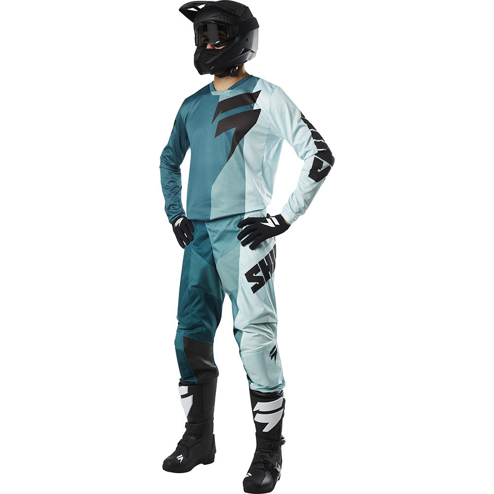 Shift - 2018 Whit3 Label Tarmac комплект джерси и штаны, зелено-синие