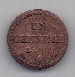"1 сантим 1798 г. L""AN 7. Франция"