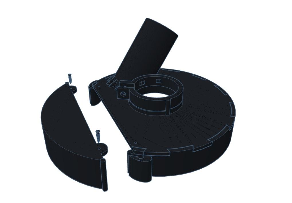 Кожух вытяжной для ушм  bosch 230mm  ava 180b-1pro