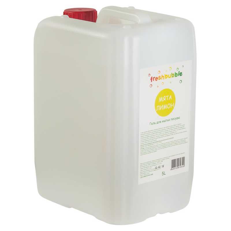 Гель для мытья посуды Мята и Лимон Freshbubble (Фрешбабл) 5 л